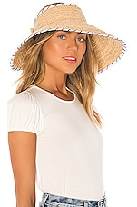 Seafolly Roll Up Visor in Natural