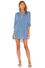 Seafolly Boyfriend Beach Shirt in Deep Chambray