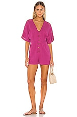 Seafolly Button Up Playsuit in Magenta Haze