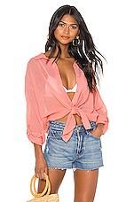 Seafolly Classic Beach Shirt in Peach