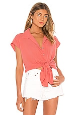 Seafolly Button Beach Shirt in Vintage Coral