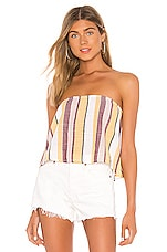 Seafolly Stripe Cropped Top in Multi