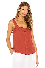 Seafolly Scarlet Top in Rust