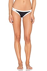 Block Party Brazilian Bikini Bottom in Black