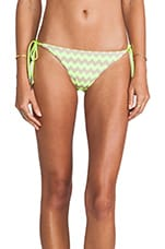 Mod Club Brazilian Tie Bottom in Fluoro Yellow