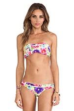 Paradiso Bandeau Bustier Bikini Top in Zest