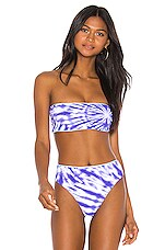 Seafolly Beach Break Tube Top in Dazzling Blue