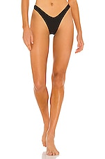 Seafolly Capri Sea V High Cut Rio Bikini Bottom in Black