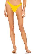 Seafolly Essentials High Cut Bikini Bottom in Sunflower