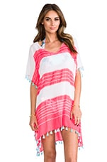 Seafolly Cable Kaftan Cover up in Red Hot