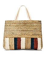 Seafolly Carried Away Stripe Tote in Natural