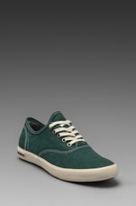 Circular Vamp Oxford in Ceramic Green