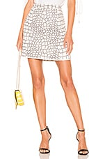 See By Chloe Animal Print Skirt in White & Brown