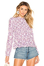 See By Chloe Smocked Printed Blouse in Multicolor