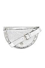 See By Chloe Kriss Metallic Belt Bag in Silver