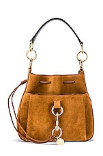 See By Chloe Large Tony Bucket Bag in Caramello