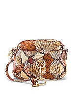 See By Chloe Tony Small Python Print Crossbody Bag in Powder