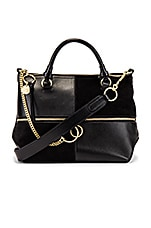 See By Chloe Emy Small Suede & Leather Satchel in Black