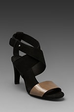X Summer Strappy Heel in Black and Taupe
