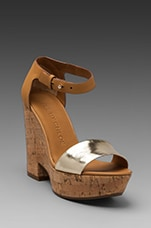 Wedge Sandal en Taupe/Gold