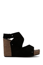 Criss Cross Wedge Espadrille in Black