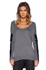 Sydney Sweater in Charcoal & Black