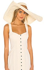 SENSI STUDIO Extra Long Bring Glamour Hat in Natural & Sable