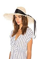 SENSI STUDIO Extra Long Brim Panama Hat in Natural & Black