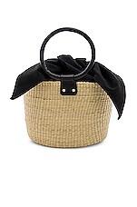 SENSI STUDIO Mini Basket Bag in Natural