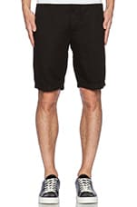 Cotten Linen Chino Short in Onyx