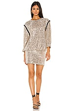 7 For All Mankind Sequin Dress in Silver & Black Contrast