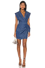 7 For All Mankind Blazer Dress With Ruffle in Pacific Street