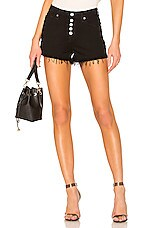 7 For All Mankind High Waist Cut Off Short in Pitch Black