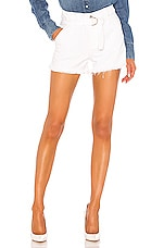 7 For All Mankind Paperbag Short in Optic White