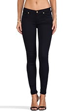 7 For All Mankind Slim Illusion Skinny w/ Squiggle Contour in Elasticity Clean Blue