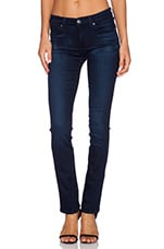 The Modern Contour Straight Leg en Pristine Blue Black