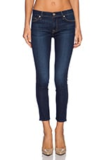 Mid Rise Ankle Skinny in Dark Royale Rinse