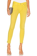 7 For All Mankind The Ankle Skinny with Released Hem in Vivid Yellow