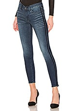 7 For All Mankind B(Air) Ankle Racing Stripe Skinny in Authentic Chance