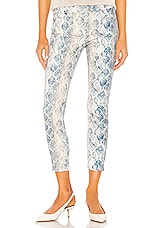 7 For All Mankind The Ankle Skinny in Indigo Snake