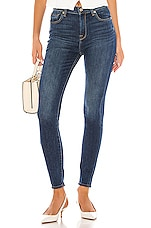 7 For All Mankind The High Waisted Skinny in Midnight Dark