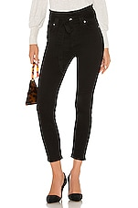 7 For All Mankind Paper Bag Roxanne Ankle Skinny in Pitch Black