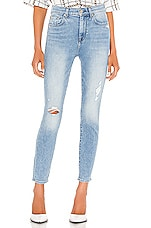 7 For All Mankind High Waist Ankle Skinny with Destroy in Vail