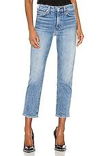 7 For All Mankind High Waist Cropped Straight in Retro Ventura Blvd