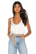 7 For All Mankind Button Up Tank in Chalk