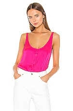 7 For All Mankind Button Up Tank in Paradise Pink