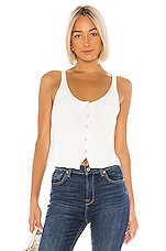 7 For All Mankind Button Up Tank in Ivory