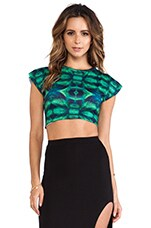 River Crop Top in Oasis