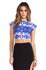 River Crop Top in Palms