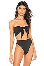 Stone Fox Swim Anini Scarf Bikini Top in Moon Shadow